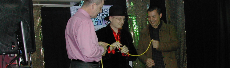 Magician doing Close-up Magic